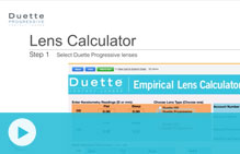 duette lens calculator video
