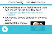 overcoming duette lens awareness video